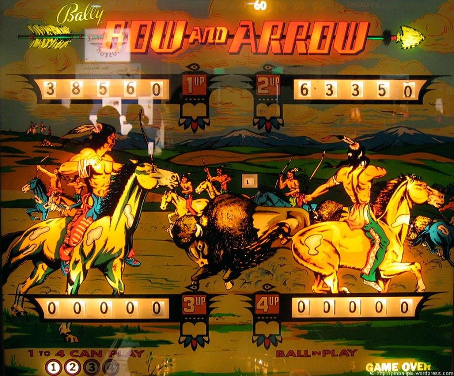 Bow and Arrow Pinball ~ from PinballPix Pinball Blog