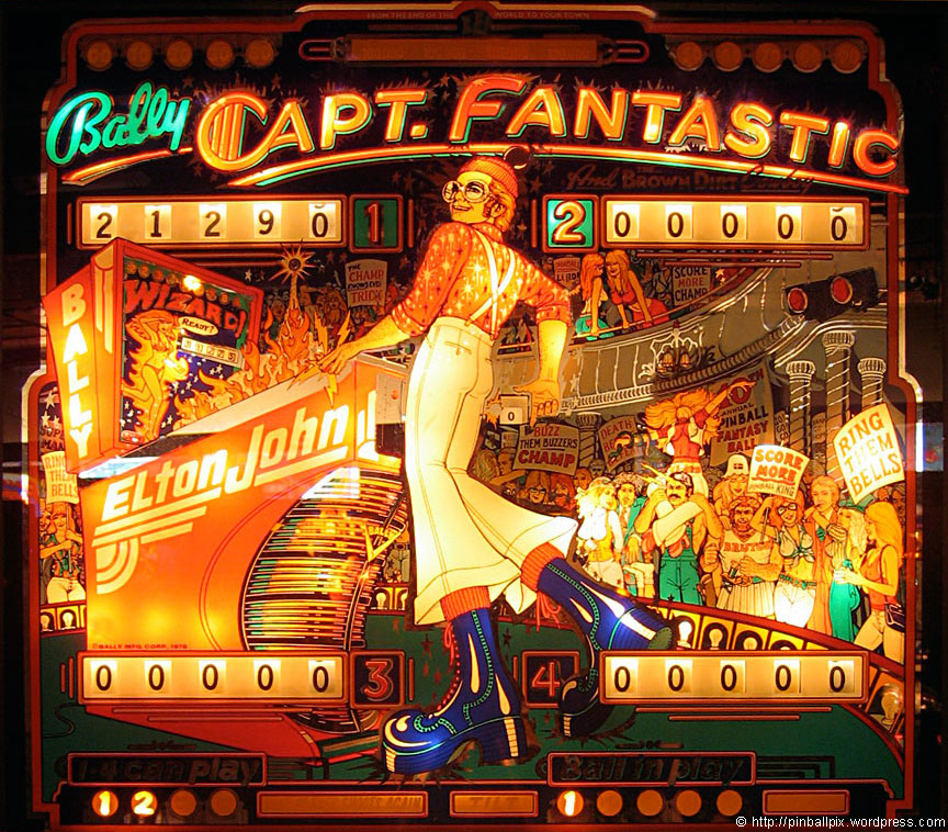 Captain Fantastic Pinball ~ from PinballPix Pinball Blog