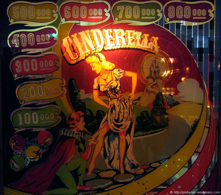 Cinderella Pinball ~ from PinballPix Pinball Blog