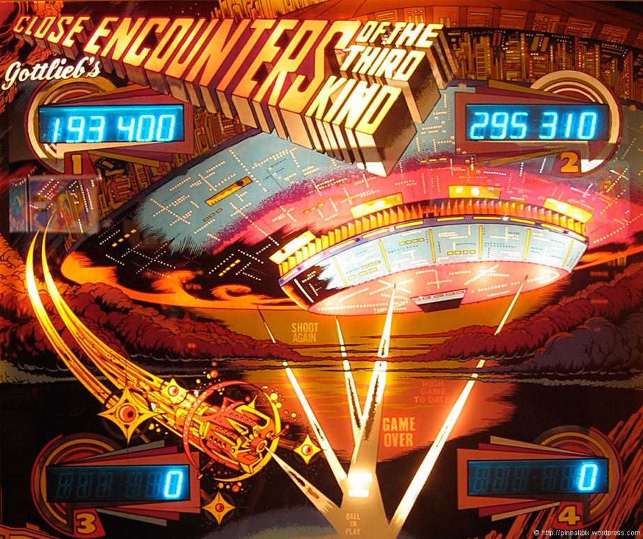 Close Encounters of the Third Kind Pinball ~ from PinballPix Pinball Blog