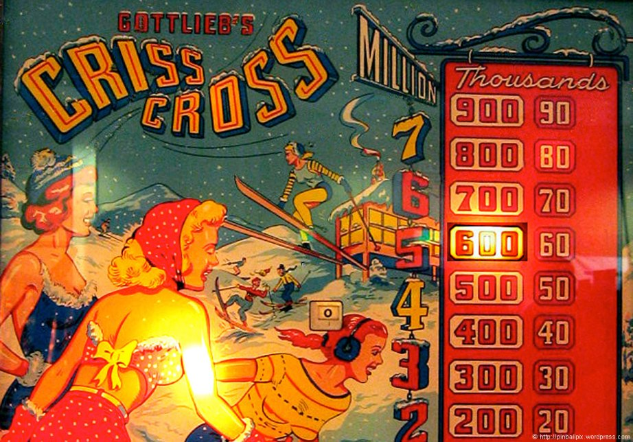 Criss Cross Pinball ~ from PinballPix Pinball Blog