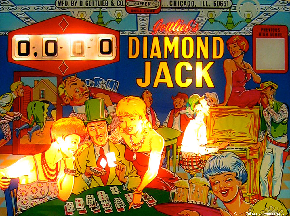 Diamond Jack Pinball ~ from PinballPix Pinball Blog