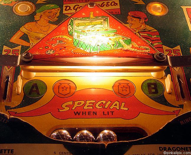 Dragonette Pinball Playfield (1954 Gottlieb)