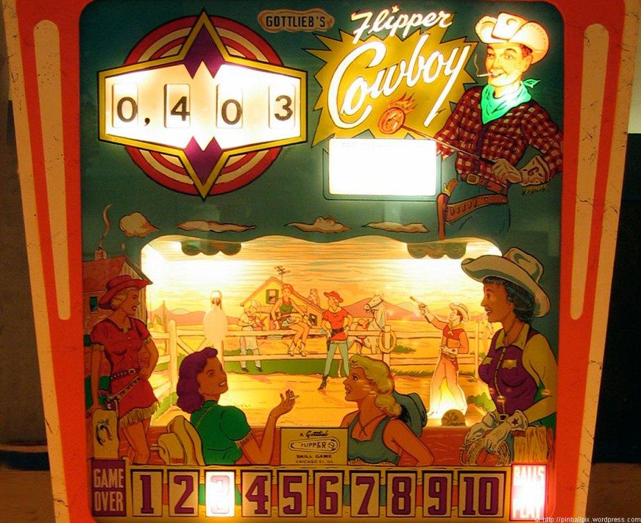 Flipper Cowboy Pinball ~ from PinballPix Pinball Blog