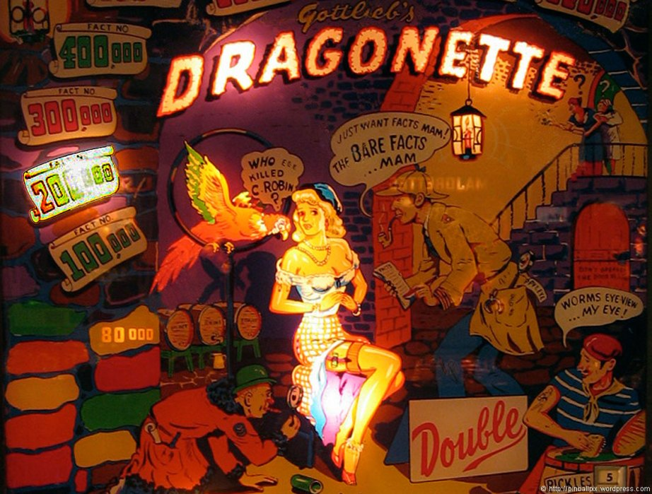 Dragonette Pinball ~ from PinballPix Pinball Blog