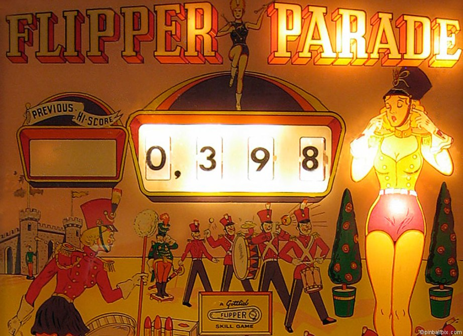 Flipper Parade Pinball ~ from PinballPix.com