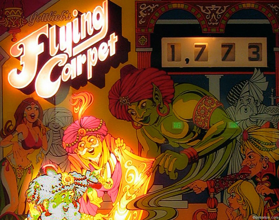 Flying Carpet Pinball ~ from PinballPix.com