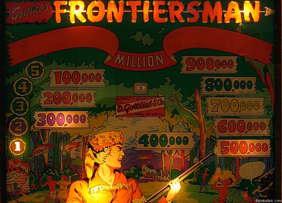 Frontiersman Pinball ~ from PinballPix.com