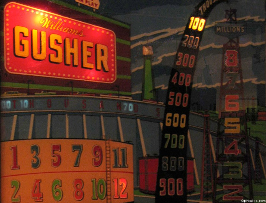 Gusher Pinball ~ From PinballPix.com