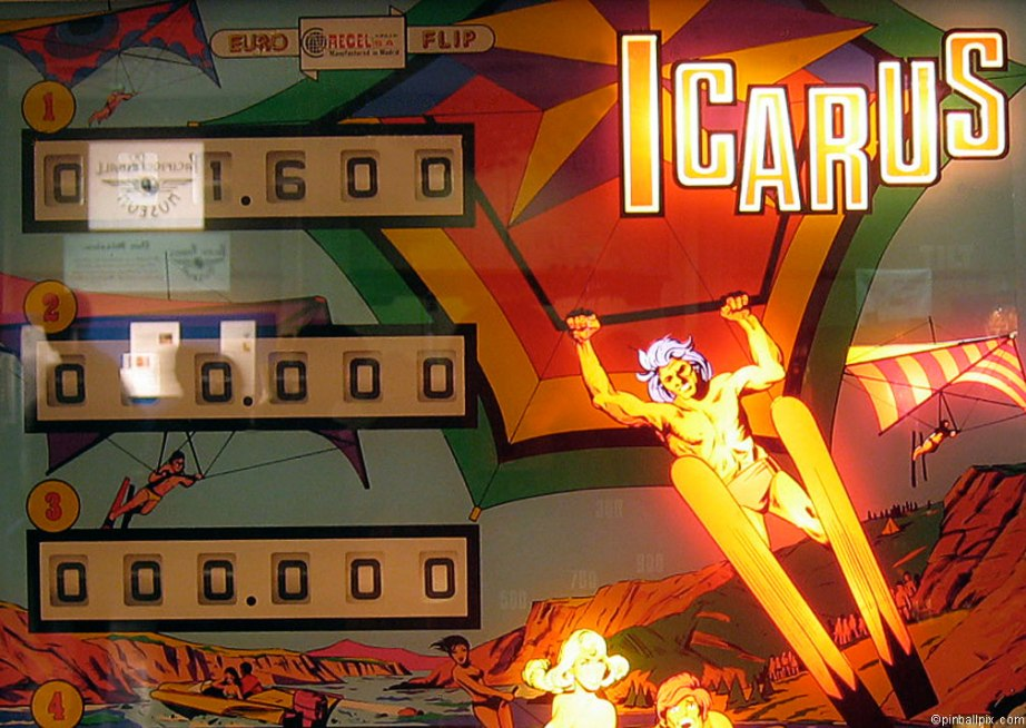 Icarus Pinball Wallpaper ~ From PinballPix.com