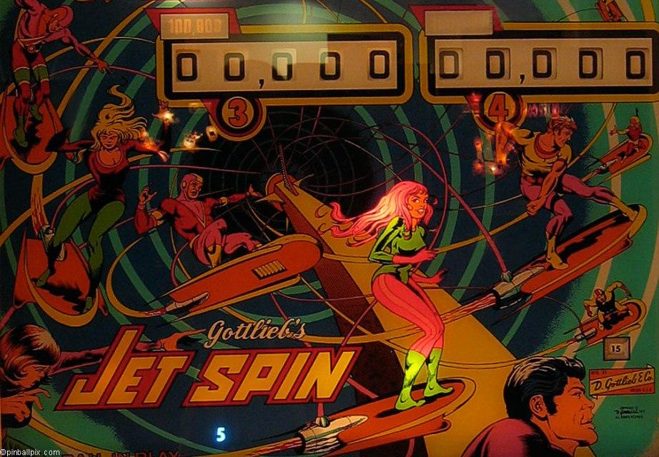 Jet Spin Pinball Wallpaper ~ From PinballPix.com