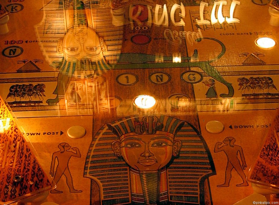King Tut Pinball Playfield Wallpaper ~ From PinballPix.com