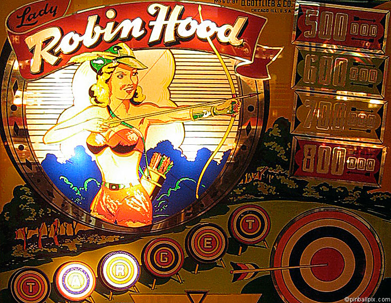 Lady Robin Hood Pinball Wallpaper ~ From PinballPix.com