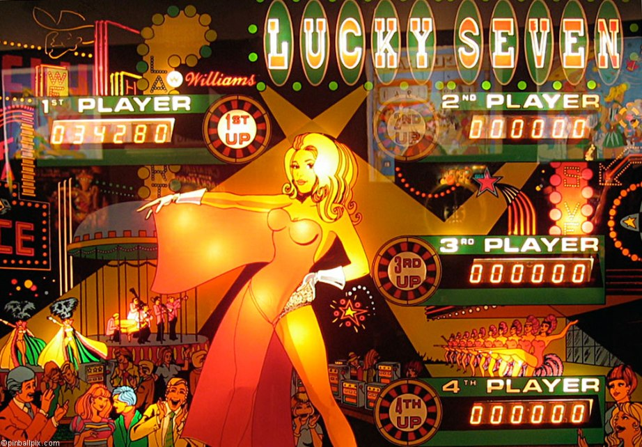 Lucky Seven Pinball ~ Desktop Wallpaper