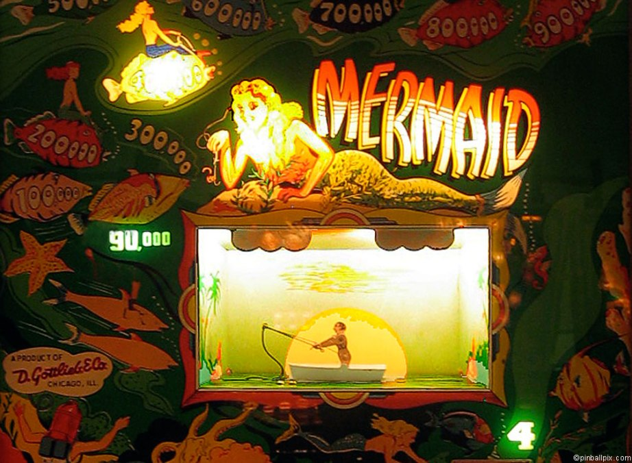 Mermaid Pinball Wallpaper