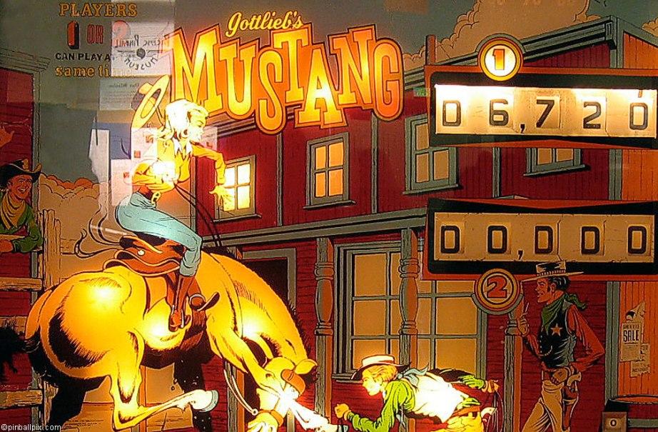 Mustang Pinball Wallpaper ~ From PinballPix.com