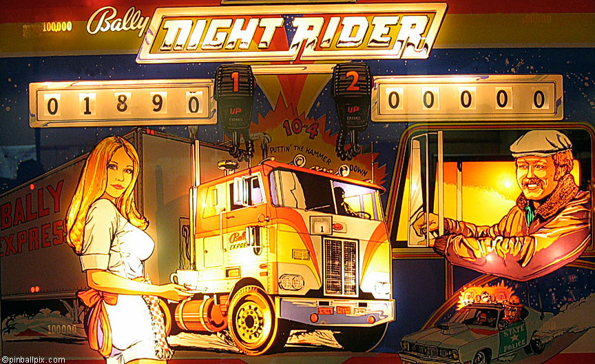 Night Rider Pinball Wallpaper ~ From PinballPix.com