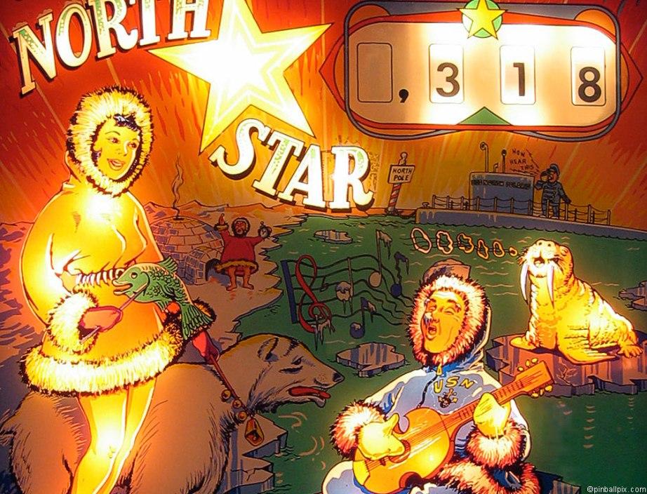 North Star Pinball  Wallpaper ~ From PinballPix.com