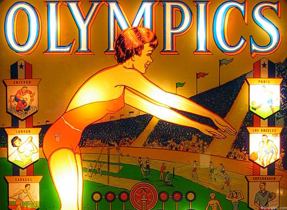 Olympics Pinball Wallpaper ~ From PinballPix.com