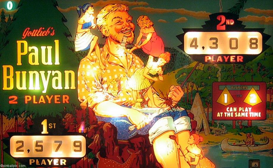 Paul Bunyan Pinball Wallpaper ~ From PinballPix.com