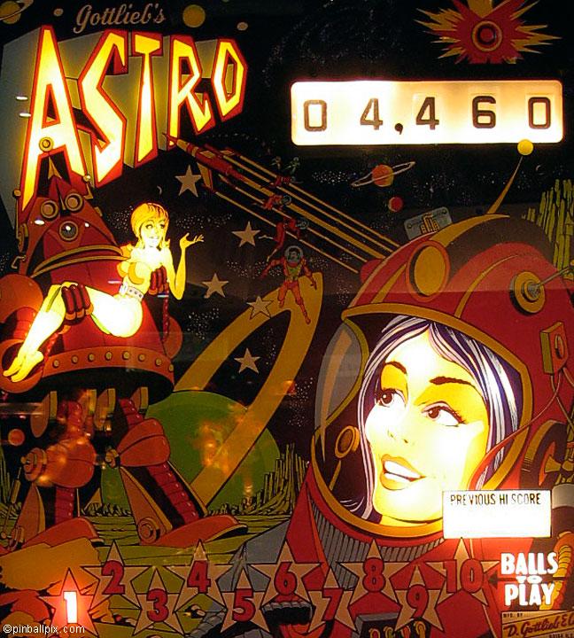 Astro Pinball (1971 Gottlieb)