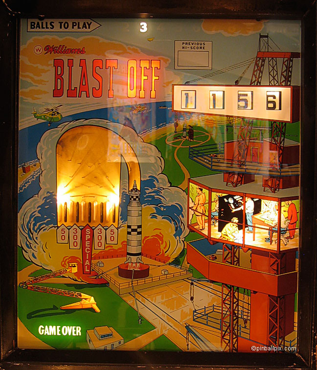 Blast Off Pinball (1967 Williams)