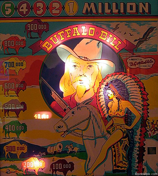 Buffalo Bill Pinball (1950 Gottlieb)