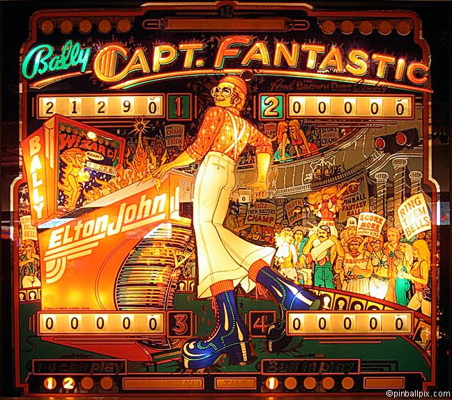 Captain Fantastic Pinball (1976 Bally)