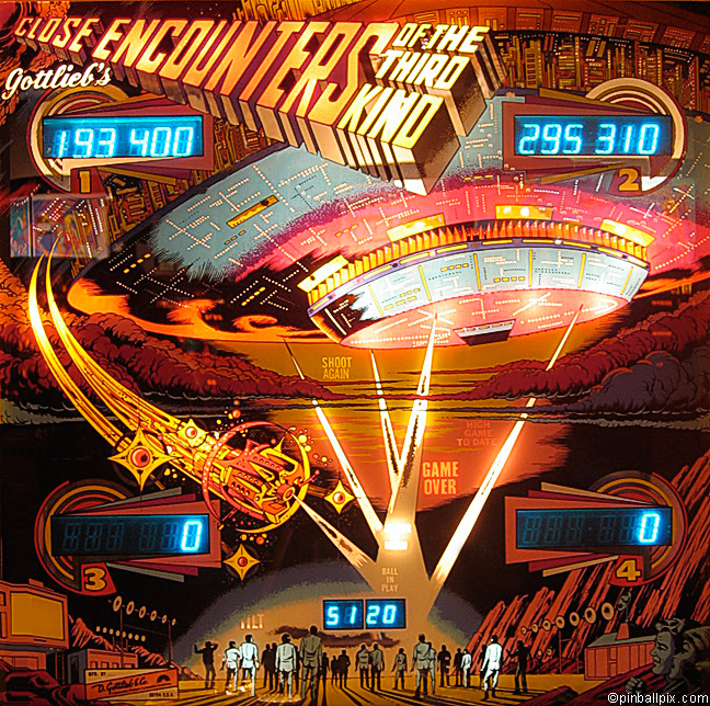 Close Encounters of the Third Kind Pinball (1978 Gottlieb)