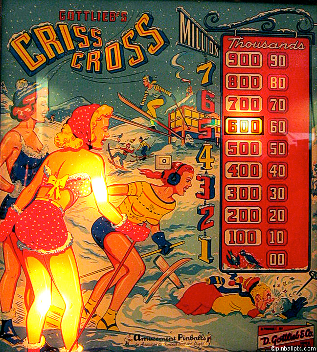Criss Cross Pinball (1958 Gottlieb)