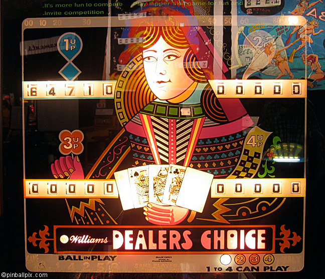 Dealers Choice Pinball (1967-1985 Williams)