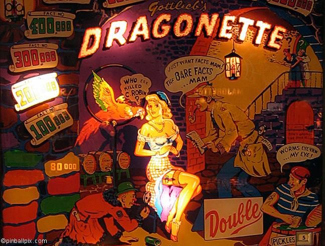 Dragonette Pinball (1954 Gottlieb)