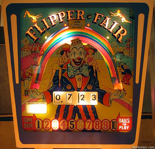 Flipper Fair Pinball (1961 Gottlieb)