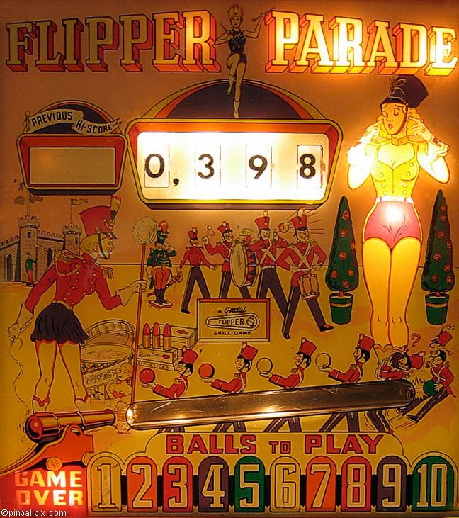 Flipper Parade Pinball (1961 Gottlieb)