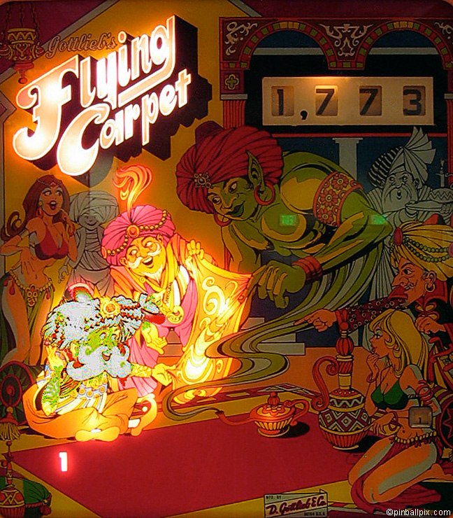 Flying Carpet Pinball (1975 Gottlieb)