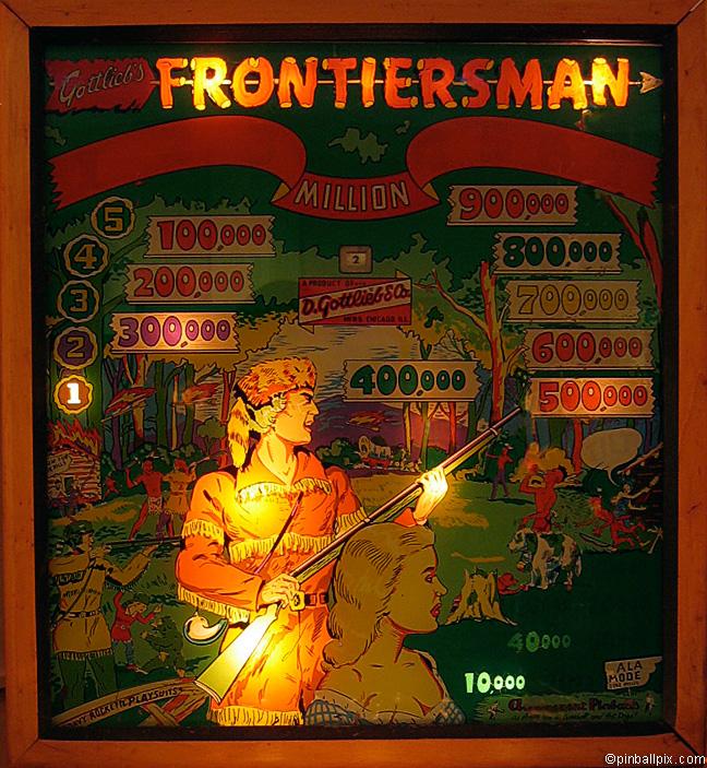 Frontiersman Pinball (1955 Gottlieb)