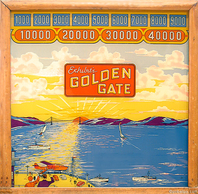 Golden Gate Pinball (1934 Exhibit Supply Company)