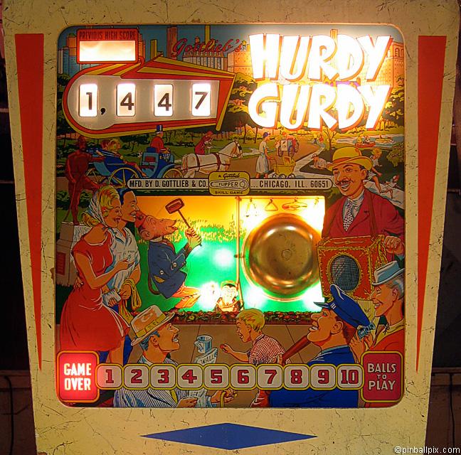Hurdy Gurdy Pinball (1966 Gottlieb)