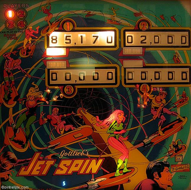 Jet Spin Pinball (1977 Gottlieb)