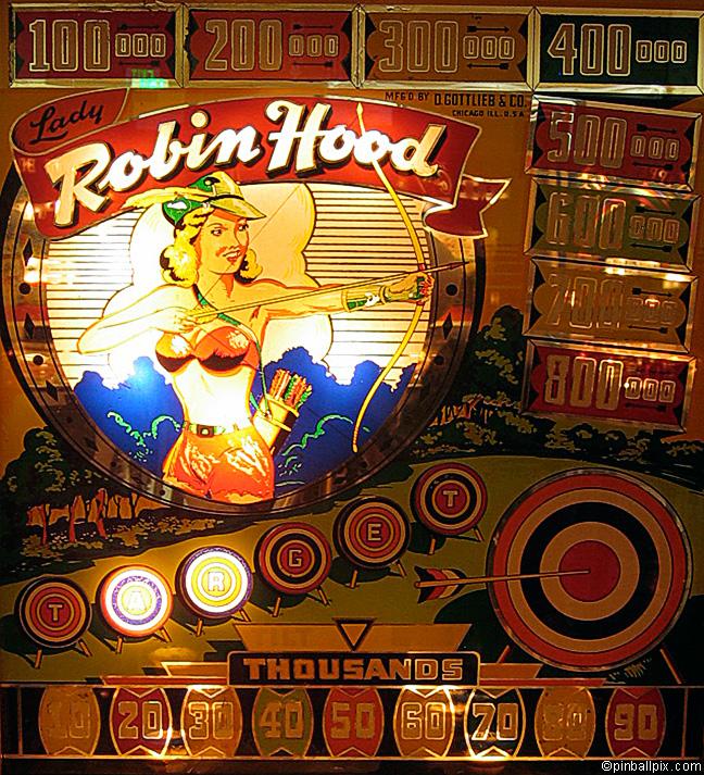 Lady Robin Hood Pinball (1948 Gottlieb)
