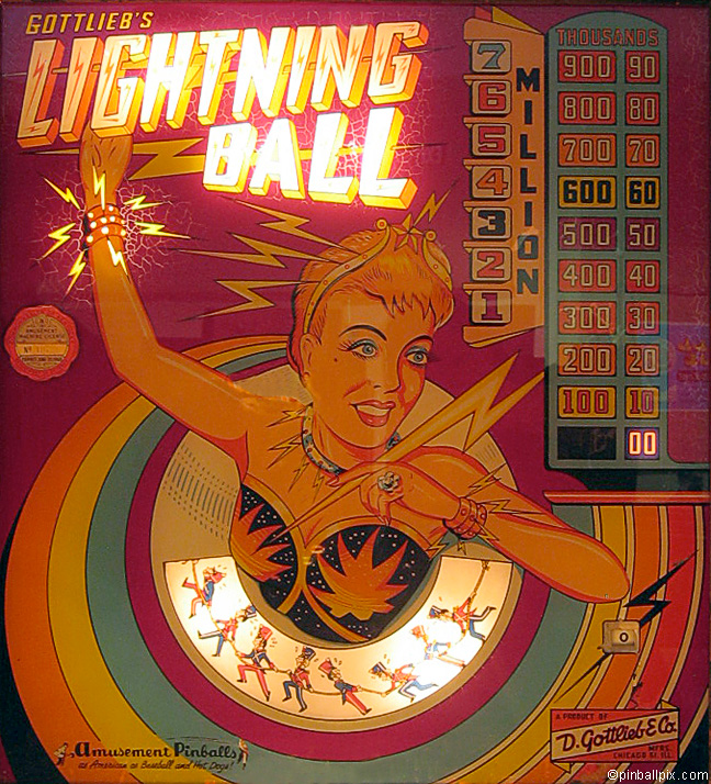 Lightening Ball Pinball (1959 Gottlieb)