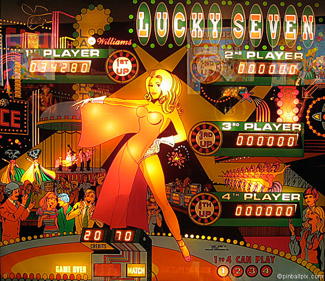 Lucky Seven Pinball (1978 Williams)
