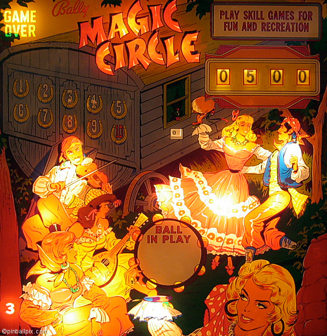 Magic Circle Pinball (1965 Bally)