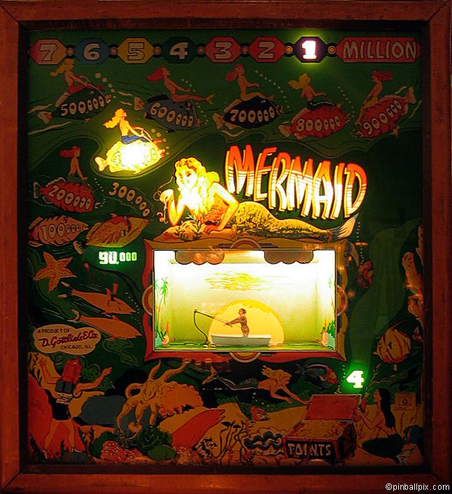 Mermaid Pinball (1952 Gottlieb)