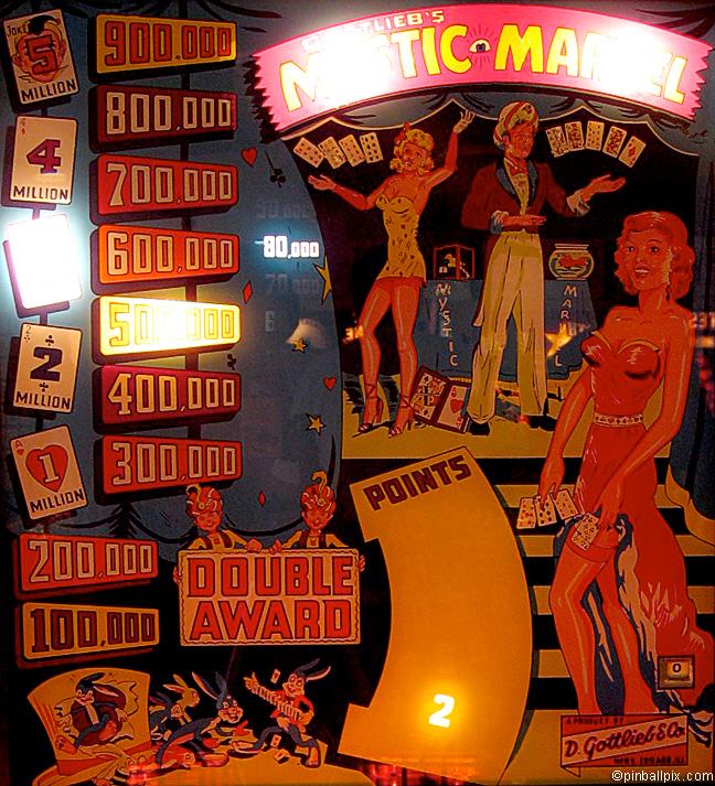 Mystic Marvel Pinball (1954 Gottlieb)
