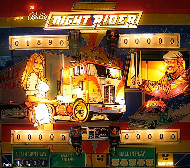 Night Rider Pinball (1976 Bally)