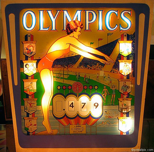 Olympics Pinball (1962 Gottlieb)