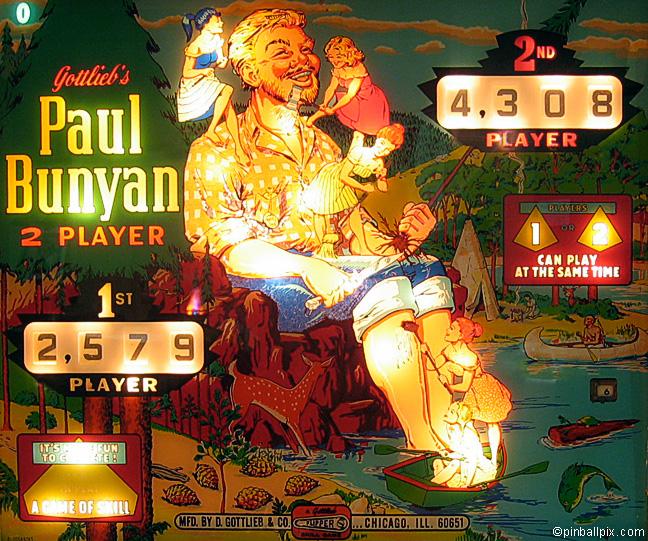 Paul Bunyan Pinball (1968 Gottlieb)
