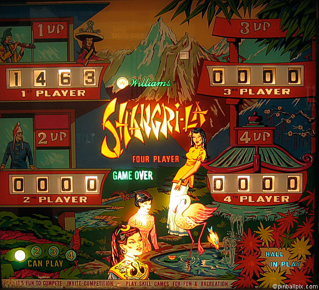 Shangri-La Pinball (1967 Williams)