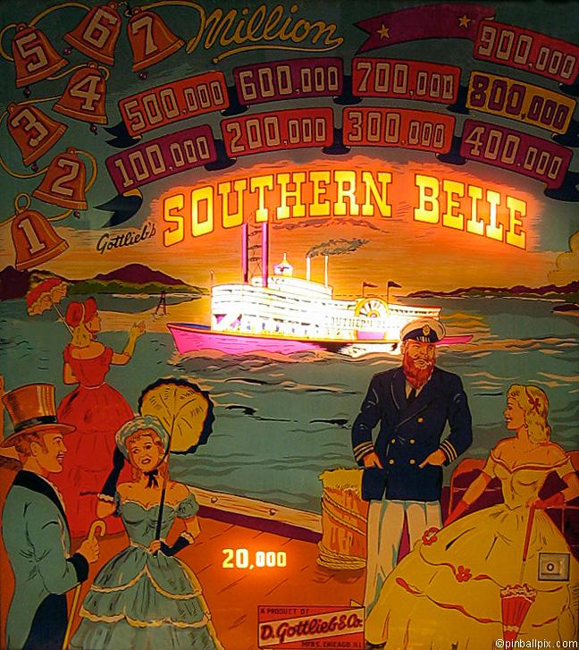 Southern Belle Pinball (1955 Gottlieb)